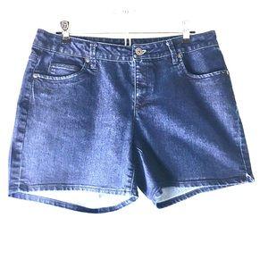 Falls Creek Dark Blue Denim Shorts, Size 10